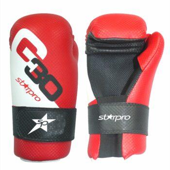Semi-contact bokshandschoenen Starpro   rood-wit-zwart
