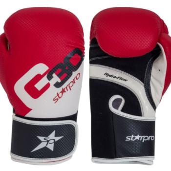 Bokshandschoenen voor trainingen Starpro G30 |rood-zwart-wit