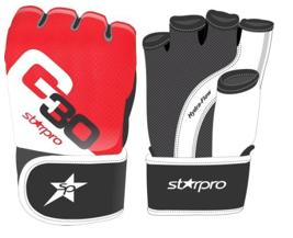 MMA-traininghandschoen Starpro G30 | rood-zwart-wit
