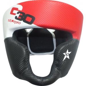 Hoofdbeschermer (head guard) Starpro G30 | zwart-wit-rood