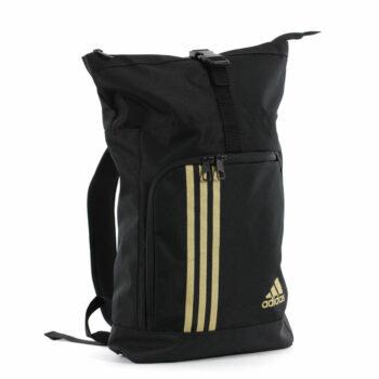 Adidas sporttas en rugzak | zwart met goudkleurig logo