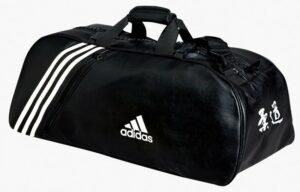 Judotas Adidas 2 in 1   zwart-wit PU-leer   Large