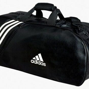 Judotas Adidas 2 in 1 | zwart-wit PU-leer | Large