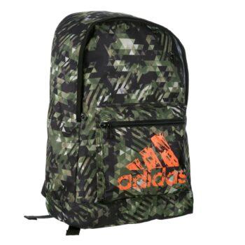 Adidas rugzak in trendy camoprint met oranje logo