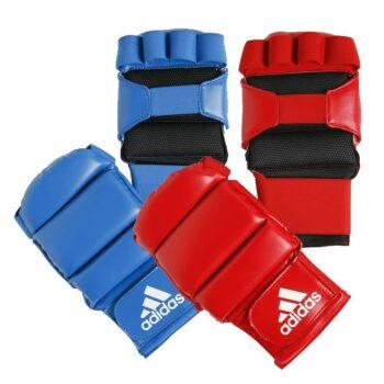 Jiujitsu-handschoenen Adidas | goedgekeurd | rood en blauw