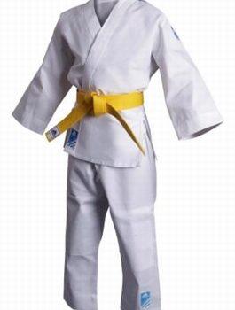 Judopak Adidas voor kinderen   meegroeipak J250   wit