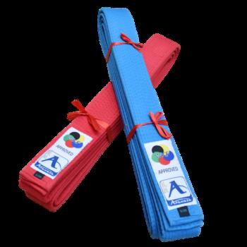 Japanse karate-band voor kata Arawaza | rood & blauw