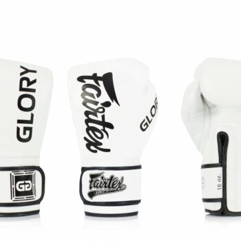 Fairtex bokshandschoen GLORY wit zwart