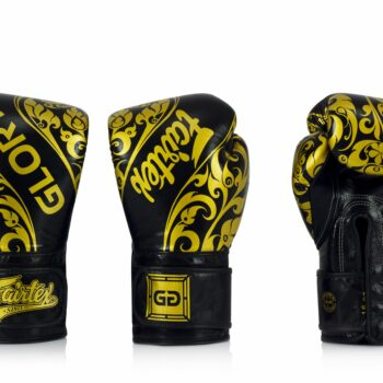 Fairtex bokshandschoen GLORY LIMITED EDITION zwart goud
