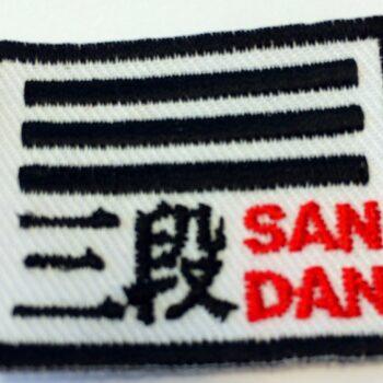 Aikido dangraad-embleem Nihon | 1e t/m 5e dan