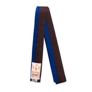 Tweekleurige judo- en karatebanden Nihon   blauw-bruin   260