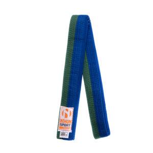 Tweekleurige judo- en karatebanden Nihon   groen-blauw   280