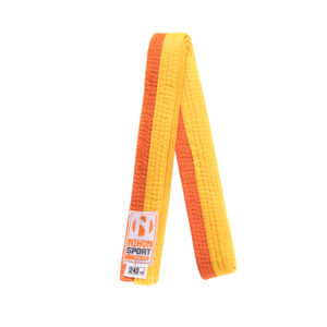 Tweekleurige judo- en karatebanden Nihon   geel-oranje   280
