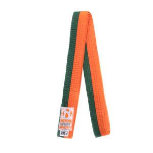 Tweekleurige judo- en karatebanden Nihon   oranje-groen  280