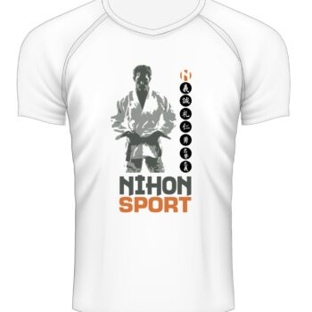 Sneldrogend sportshirt JUDOKA Nihon   wit