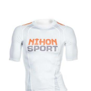 Sneldrogend unisex mesh-trainingsshirt Nihon | wit | OP=OP