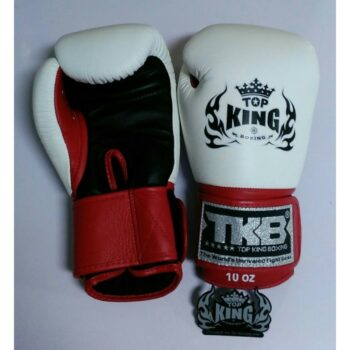 """Top King Boxing Gloves ''Ultimate"""" White Black Red (OP=OP)"""