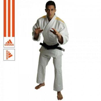 Judopak Adidas wedstrijden en trainingen   J690   wit-oranje