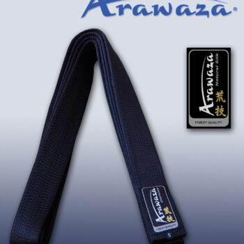 Karateband zijde Arawaza | zwart