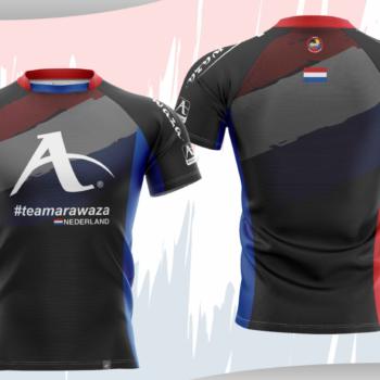 T-shirt Arawaza | dry-fit | #teamArawaza Nederland