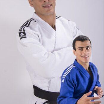 Judopak Adidas Champion II slimfit IJF   wit