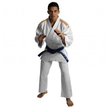 Judopak Adidas voor beginners & kinderen   J350   wit-oranje