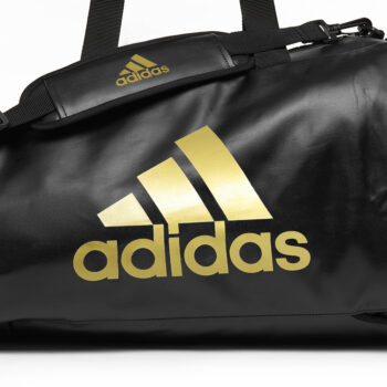 Adidas 2 in 1 Sporttas Zwart/Goud Budo